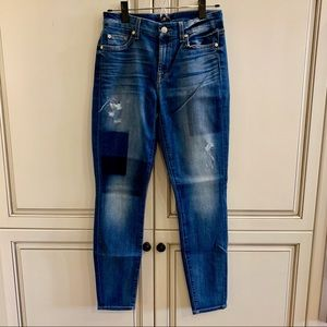 7 For All Mankind skinny ankle fit